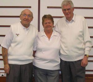 Triples Champions: John and Rita Callan, Iain McDougal