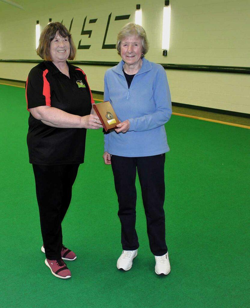 Muriel Cain winner of the singles league
